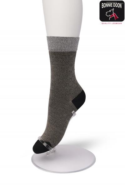 Glittering Jacquard sock