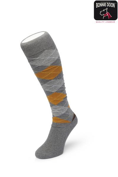 Argyle knee high