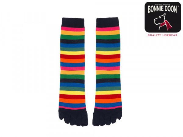 Colourful Stripe Toe Sock