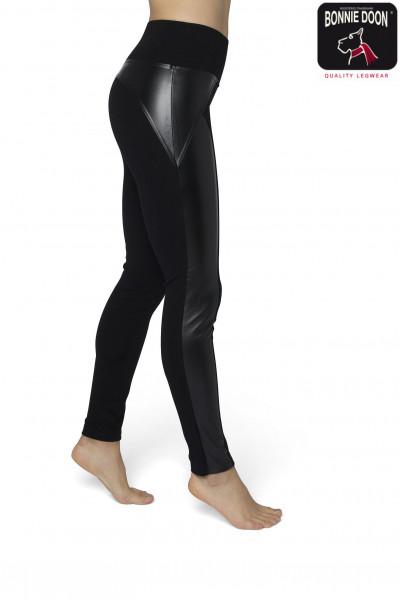 Mixed Leather legging