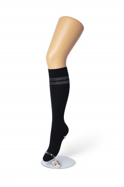 Silver Stripe Knee-High