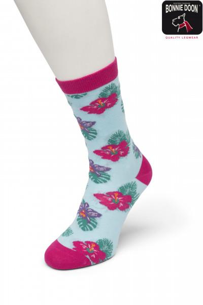 Tropical Flower Sock