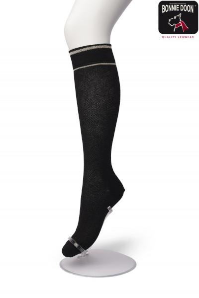 Glittering Herringbone knee high
