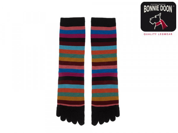 Colourful Stripe Toe Sock